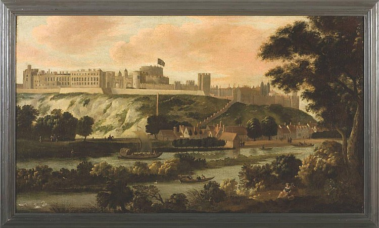 LARGE VIEW OF WINDSOR CASTLE FROM THE THAMES
