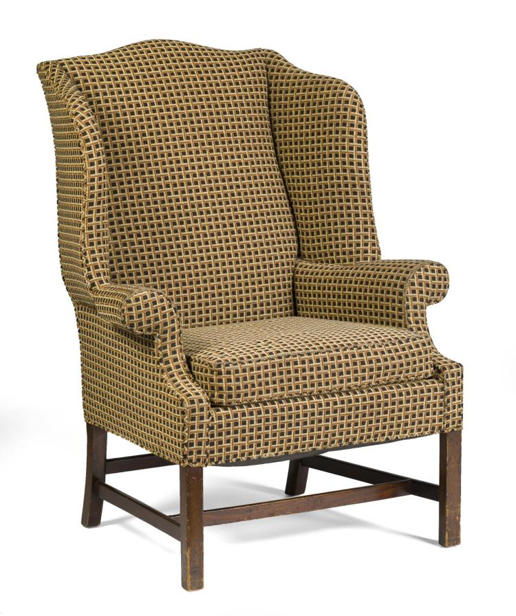 New england chippendale style mahogany easy chair for New style chair