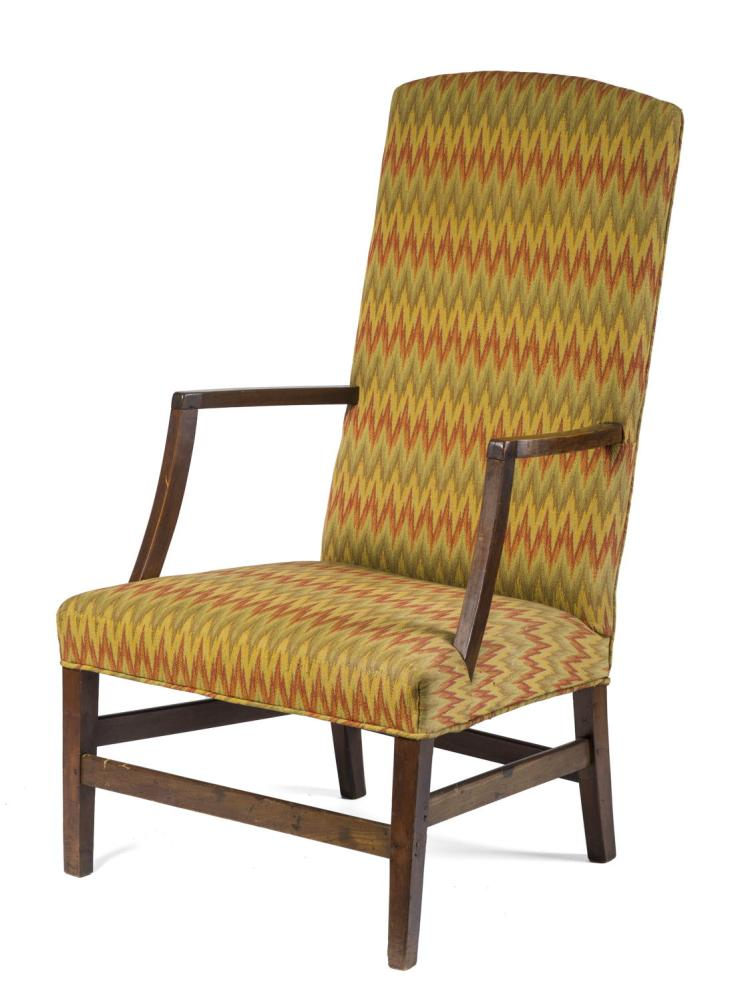New england federal style cherrywood lolling chair with box for New style chair