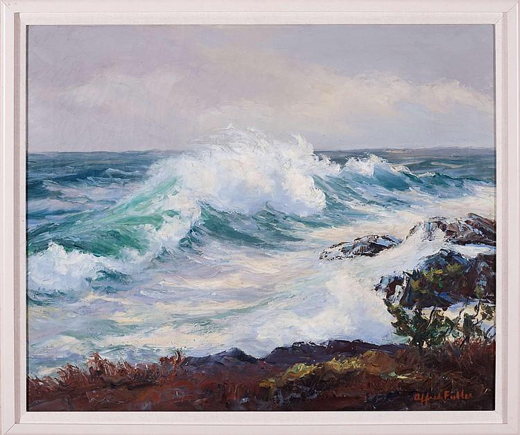ALFRED FULLER (AMERICAN 1899-1980). WINTER SEA, MONHEGAN ISLAND.