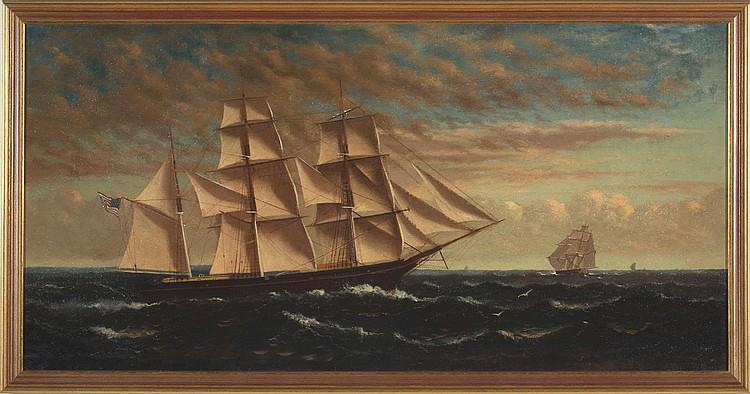 GEORGE M. WHITE (AMERICAN 1849-1915). THE AMERICAN BARK