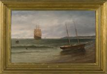 JOHN W. STANCLIFF (AMERICAN 1814-1879). COMING ON SHORE.
