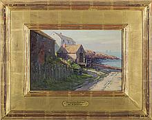 EDWARD A. PAGE (AMERICAN 1850-1928). OCEAN VIEW COTTAGES, MARBLEHEAD.