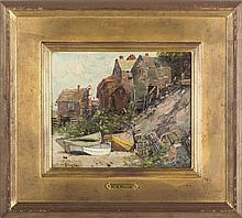 EDWARD A. PAGE (AMERICAN 1850-1928). BARNEGAT, MARBLEHEAD.
