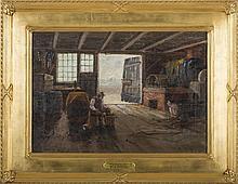 EDWARD A. PAGE (AMERICAN 1850-1928). FISHERMAN'S SHANTY, SWAMPSCOTT.
