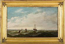 JOHN W. STANCLIFF (AMERICAN 1814-1879). HARBOR SCENE.