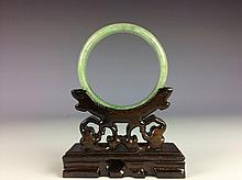 Fine Chinese jadeite bangle