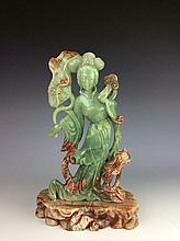 Chinese stone / jade, carved beauty figure