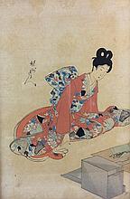 Japanese woodblock print - beauty