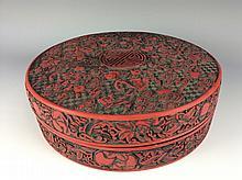 Fine Chinese cinnaber large box