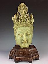 Veary Rare jadeite Chinese Tang  style Buddha head