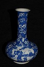 Chinese blue and white glazed Porcelain vase