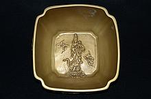 Very Rare Chinese gilt porcelain bowl, marked