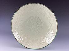 Rare Song Ding-style white glazed, Chinese porcelain plate