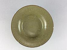 Chinese longquan style porcelain plate