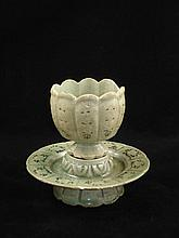 13th C Korean Celadon Cup and Saucer - Extremely Rare