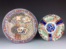 Pair of Chinese and Japanese porcelain plates.