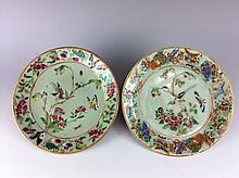 Pair of Chinese export plates