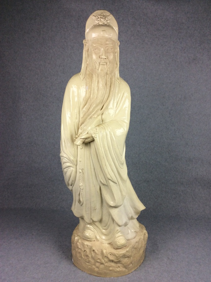 Fine Vintage Chinese porcelain figure, Blanc De Chine (White glazed)