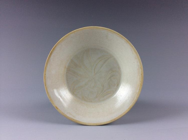 Rare Vintage Chinese porcelain dish, white glaze