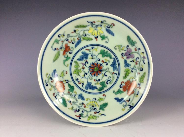 Chinese Doucai glazed, decorate & mark.