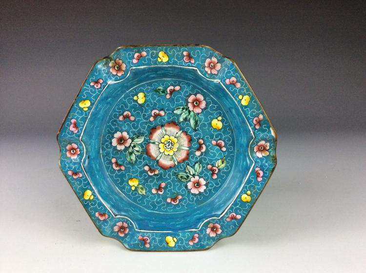 Chinese enamel on copper base