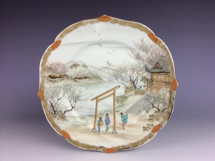 Fine Japanese porcelain plate
