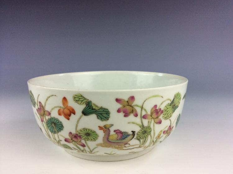 Very rare 19C  Qing period, Chinese porcelain bowl, decorated & marked