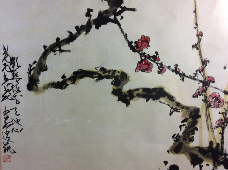 Chinese painting, hand painted , ink and color on paper.
