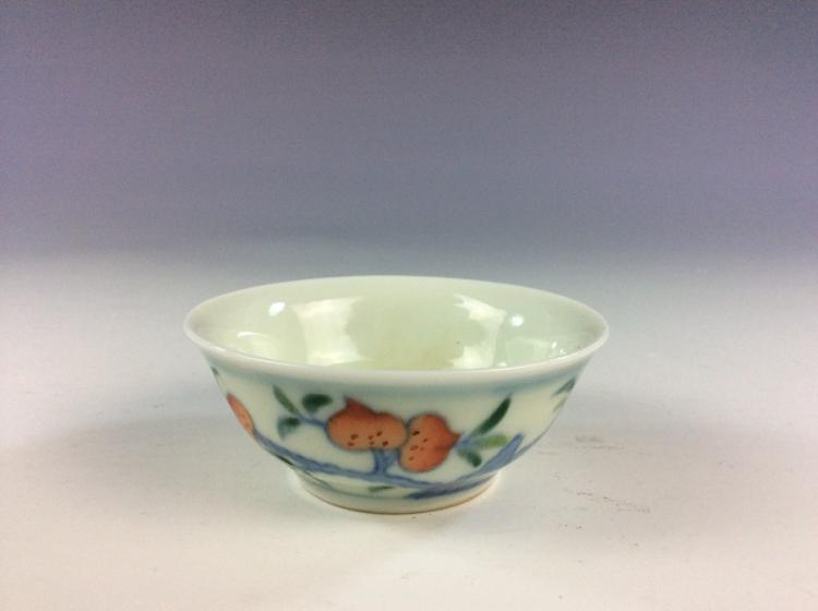 Fine Chinese porcelain Doucai glazed bowl,  marked