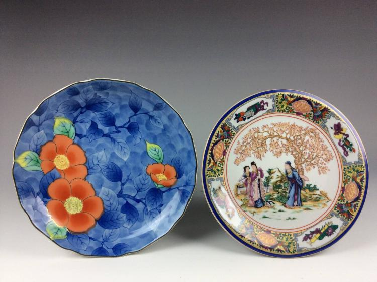 2 export Chinese /Aasian porcelain plates