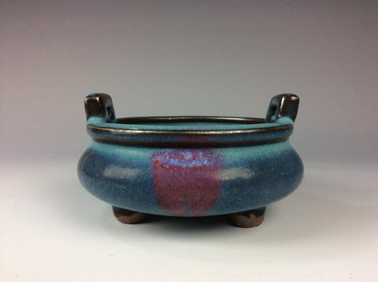 Fine Chinese Jun Kiln style porcelain censer