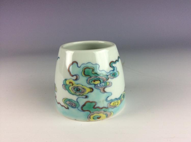 Chinese porcelain water pot, Doucai glazed, decorated and marked