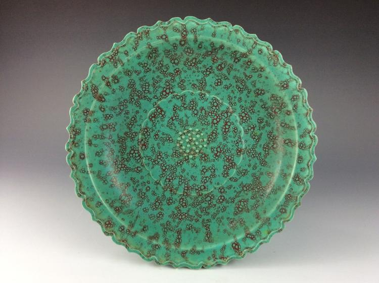 Chinese flambe glazed porcelain plate