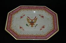 Vintage Chinese export porcelain plate with  European coat of arms