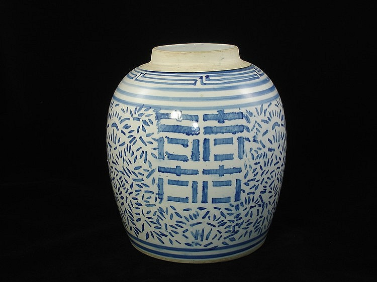 Chinese blue and white pot
