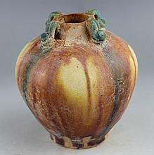 Chinese Tang dynasty style tri-colored pottery pot