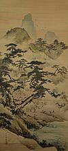 Japanese Hand painted,  Hanging scroll
