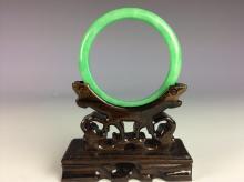 Fine Chinese jadeite bangle