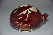 Late Qing or Republic Period, Chinese water dropper, red glaze