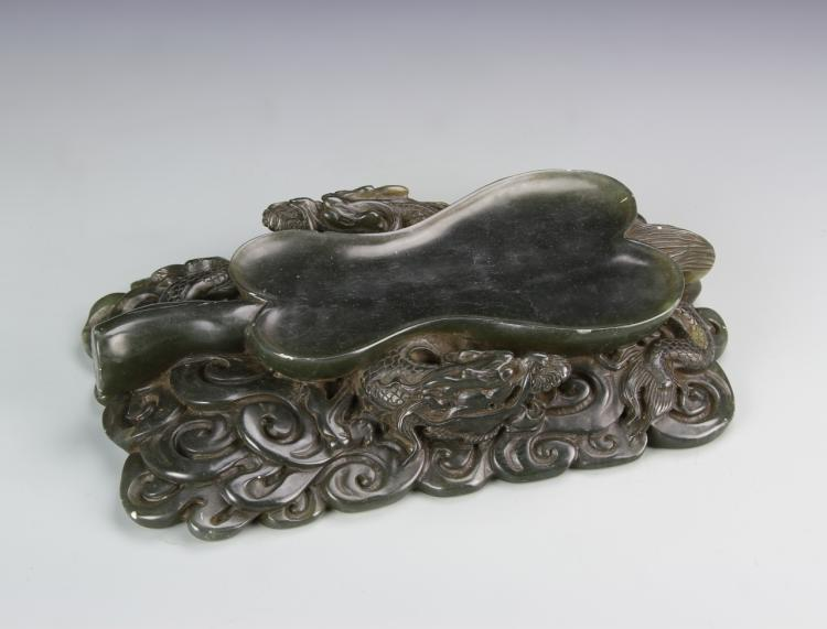 Chinese Carved Jade Ink Pad