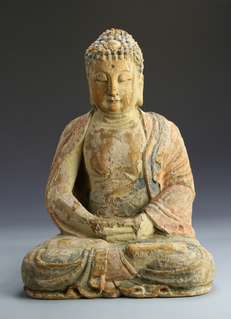 Chinese Wood Buddha Statue