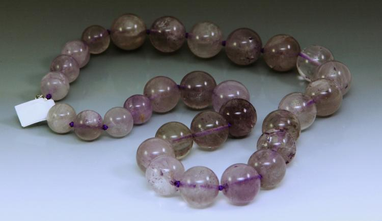 Chinese Amethyst Bead Necklace
