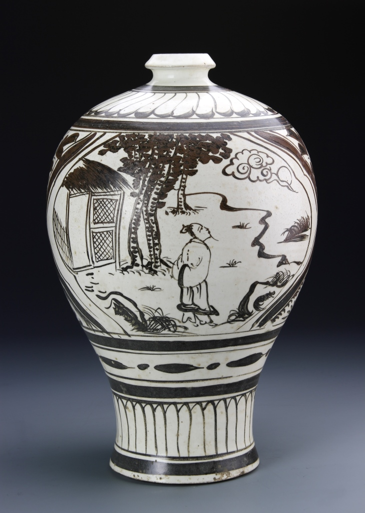 Chinese Cizhou Ware Meiping Vase
