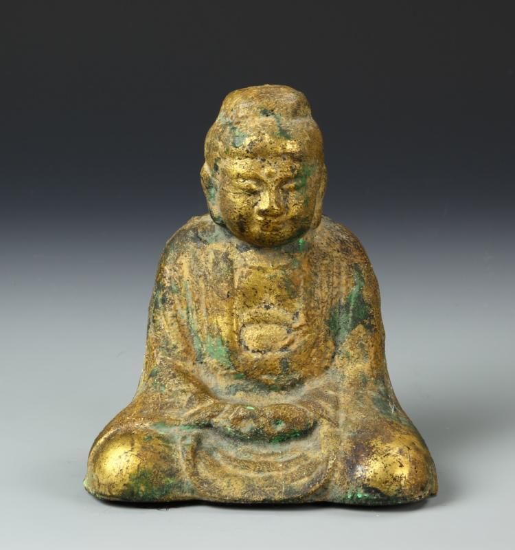 Antique Asian Metal Buddha
