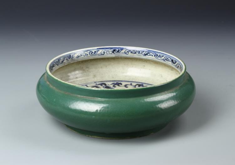 Chinese Green Glazed Brush Washer