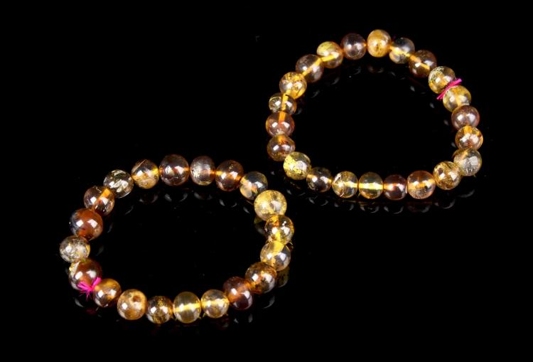 Chinese Antique Amber Bracelets (2 pc.)