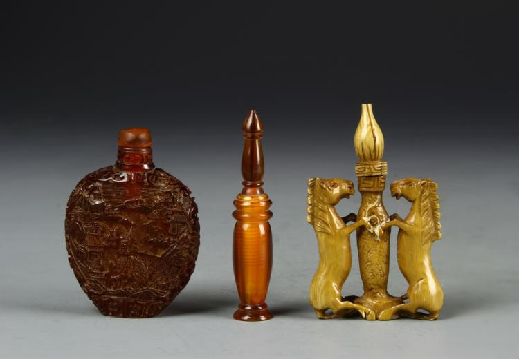 Chinese Three Snuff Bottles