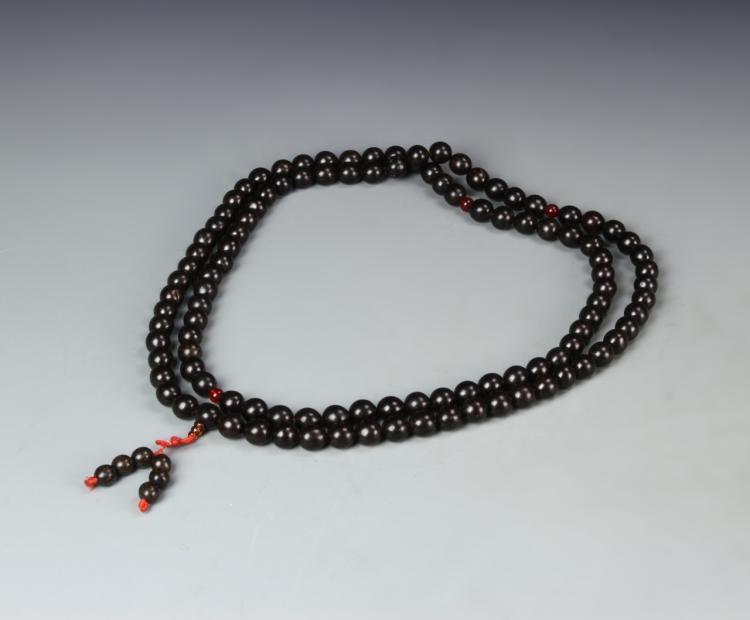 Chinese Wood Prayer Beads