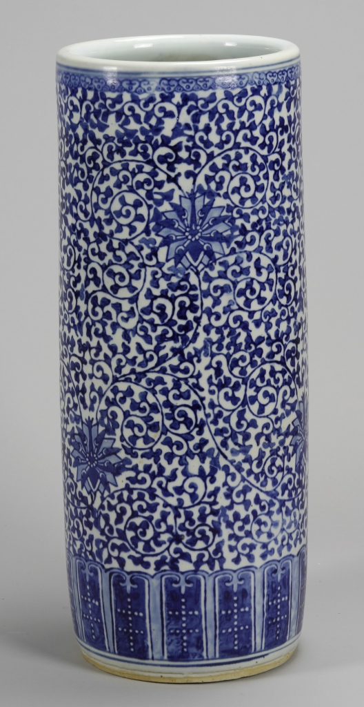 Chinese Blue and White Umbrella Stand